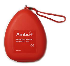 Ambu Rescue Mask, breathing mask with O2 inlet, hard-case