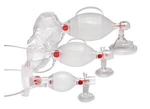 Ambu SPUR II Pediatrie met drukbegrenzings-ventiel en masker #0 en #1