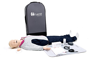 Laerdal Resusci Anne QCPR with Airway Head & full body with trolley