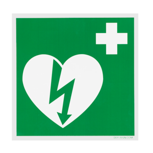 DefiSign AED Ilcor sign