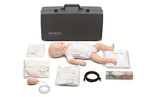 Laerdal Resusci Baby QCPR with trolley