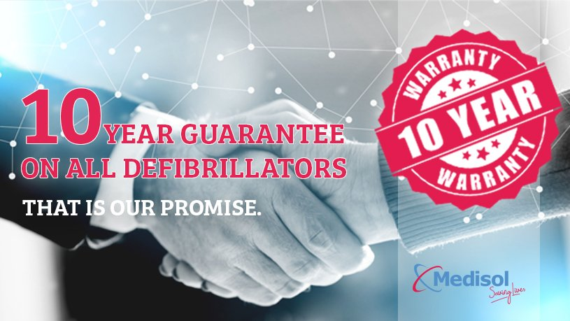 10 year warranty on all defibrillators